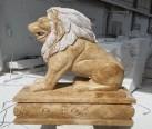 mermer  oturan aslan-lion-804