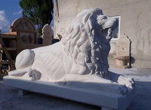 Mermer lion aslan heykel-811