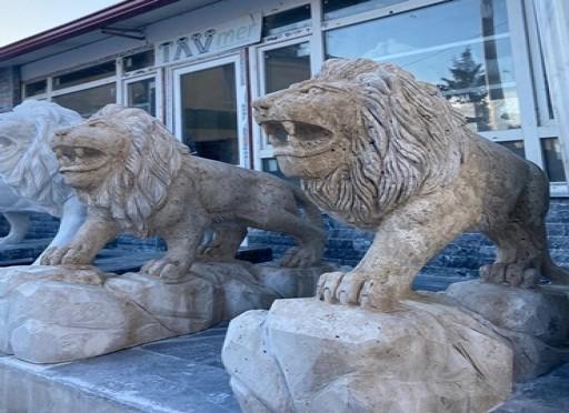 aslan heykeli mermerden- 5002