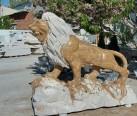 Mermer Aslan heykeli-601